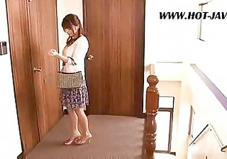 asian wife copulates the repair lad