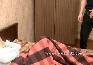 blond sleeping mother