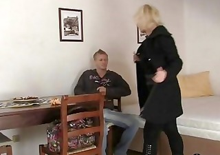 mature blonde takes it is from behind